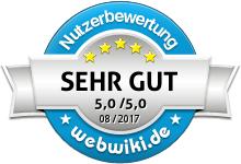 Bewertungs Emblem mit 5 Sternen