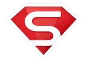 赤い背景に白い「S」が付いたロゴ
