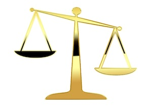 Bild einer Waage - Justizia