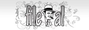 Logo FileAL in schwarz/weiß
