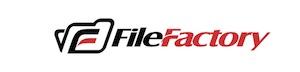 Logo Filefactory in schwarz und rot