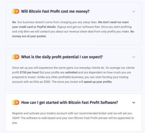 Bitcoin Fast Profit Întrebări frecvente