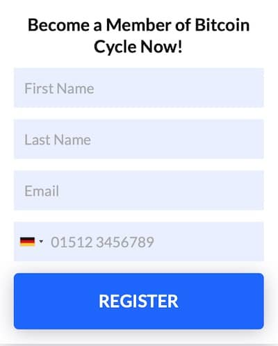 Register Bitcoin Cycle