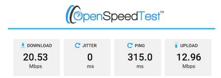 NordVPN Türkei Speed Test