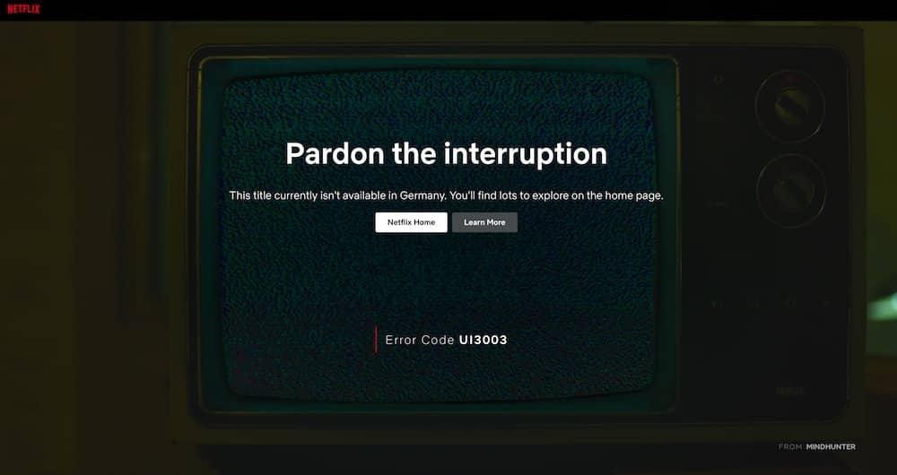 Netflix Geoblocking